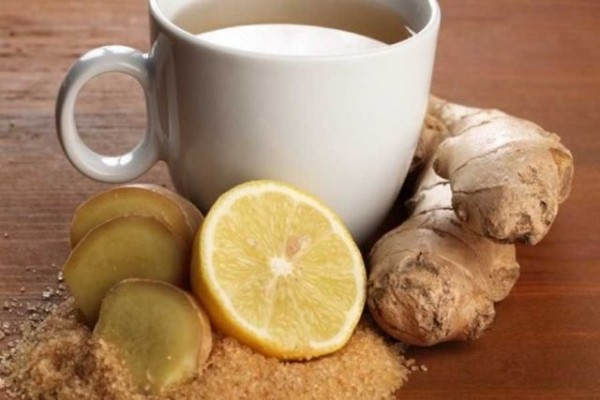 ginger tea and lemon